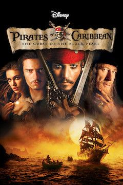 Pirates of the Caribbean: The Curse of the Black Pearl movie poster.
