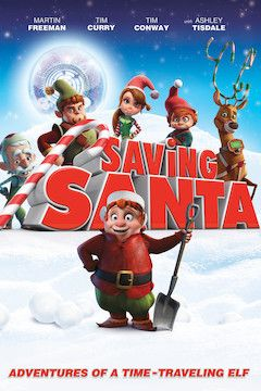 Saving Santa movie poster.