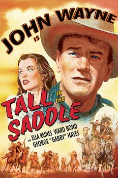 Tall in the Saddle movie poster.