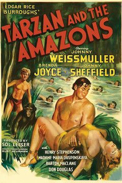 Tarzan and the Amazons movie poster.