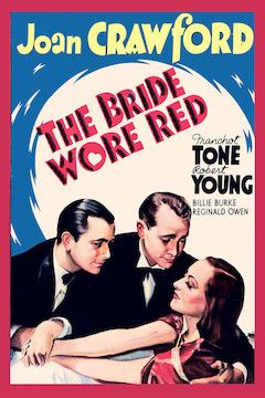 The Bride Wore Red movie poster.