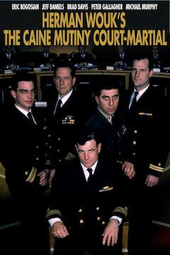 The Caine Mutiny Court-Martial movie poster.