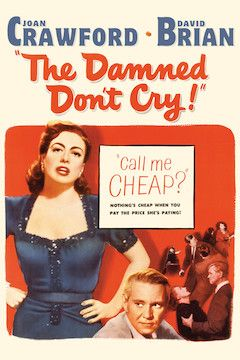 The Damned Don't Cry movie poster.