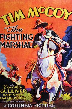 The Fighting Marshal movie poster.