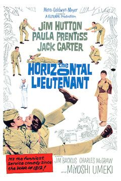 The Horizontal Lieutenant movie poster.