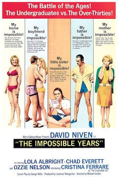 The Impossible Years movie poster.