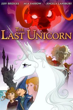 The Last Unicorn movie poster.