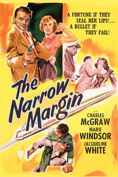 The Narrow Margin movie poster.