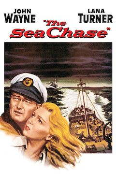 The Sea Chase movie poster.
