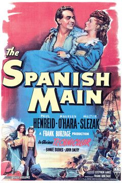 The Spanish Main movie poster.