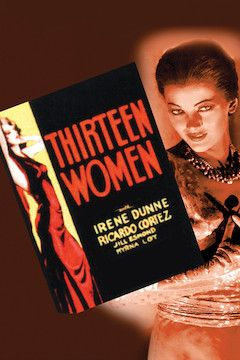 Thirteen Women movie poster.