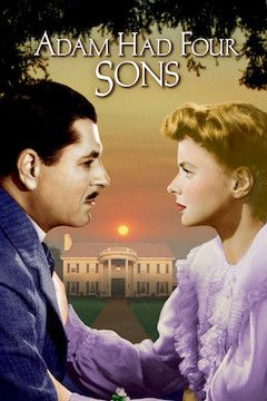 Adam Had Four Sons movie poster.