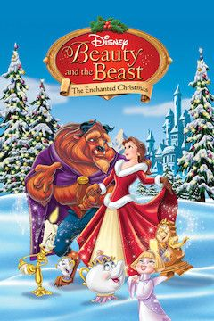 Beauty and the Beast: The Enchanted Christmas movie poster.