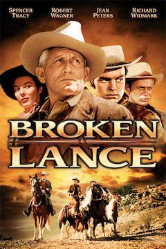 Broken Lance movie poster.