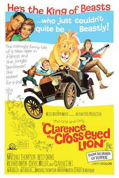Clarence, the Cross-Eyed Lion movie poster.