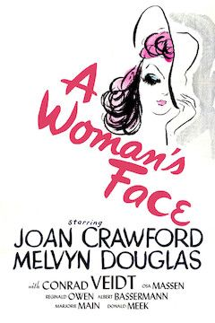 A Woman's Face movie poster.