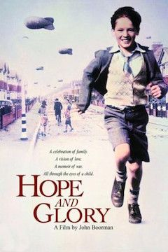 Hope and Glory movie poster.