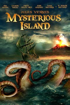 Jules Verne's Mysterious Island movie poster.