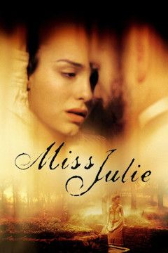 Miss Julie movie poster.