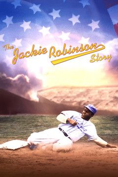 The Jackie Robinson Story movie poster.