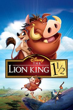 The Lion King 1 1/2 movie poster.