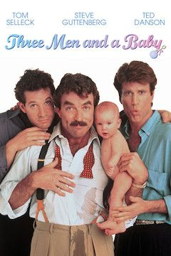 Three Men and a Baby movie poster.