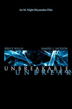 Poster for the movie Unbreakable