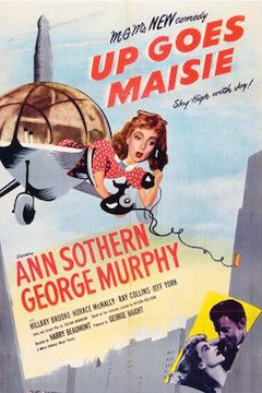 Up Goes Maisie movie poster.