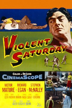 Violent Saturday movie poster.