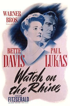 Watch on the Rhine movie poster.
