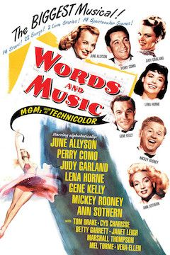 Words and Music movie poster.