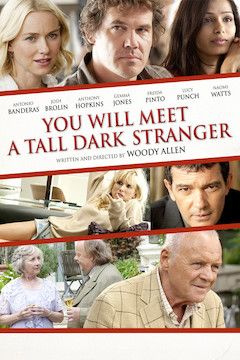 You Will Meet a Tall Dark Stranger movie poster.