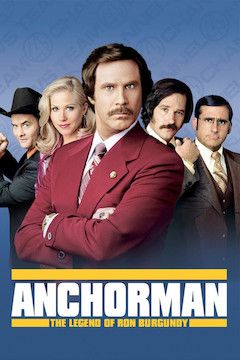 Anchorman: The Legend of Ron Burgundy movie poster.