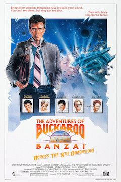 The Adventures of Buckaroo Banzai Across the Eighth Dimension movie poster.
