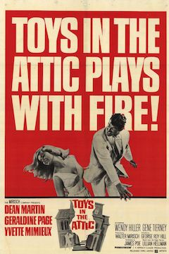 Toys in the Attic movie poster.
