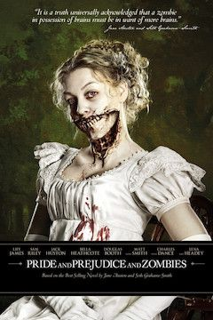 Pride and Prejudice and Zombies movie poster.
