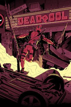 Deadpool movie poster.