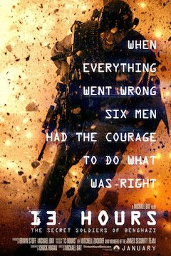 13 Hours: The Secret Soldiers of Benghazi movie poster.