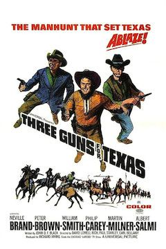 Three Guns for Texas movie poster.