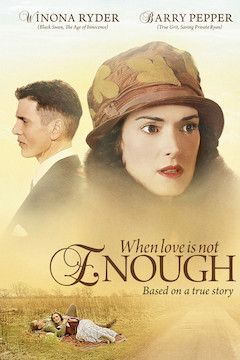 When Love Is Not Enough - The Lois Wilson Story movie poster.