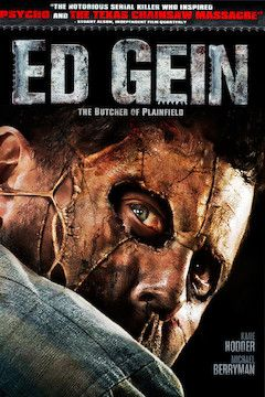 Ed Gein: The Butcher of Plainfield movie poster.