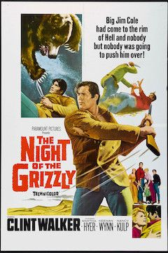 The Night of the Grizzly movie poster.