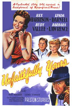 Unfaithfully Yours movie poster.