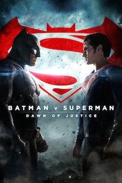Batman v Superman: Dawn of Justice movie poster.