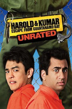 Harold and Kumar Escape From Guantanamo Bay movie poster.