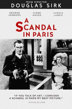 A Scandal in Paris movie poster.