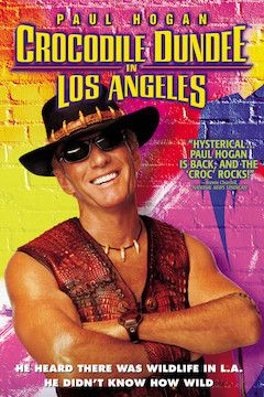 Crocodile Dundee in Los Angeles movie poster.
