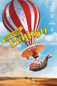 Poster for the movie Five Weeks in a Balloon