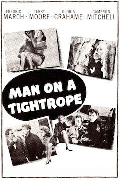 Man on a Tightrope movie poster.