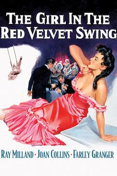 The Girl in the Red Velvet Swing movie poster.